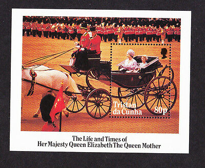 Tristan Da Cunha 1985 Queen Mother M/sheet Ms 394 Mnh.