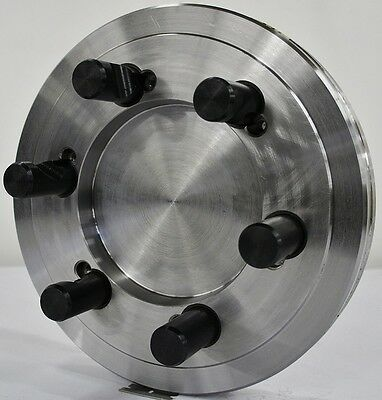 """10-1/2"""" Lathe Chuck Adapter Plate D1-8 Spindle Mount Taper 1-3/8"""" Thickness USA"""