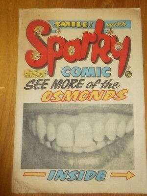 Sparky #553 23Rd August 1975 British Weekly Dc Thomson Comic