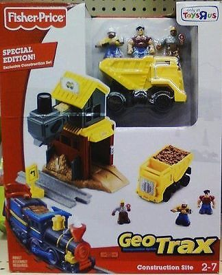 GeoTrax Construction Site Fisher Price Special Edition Rare NIB