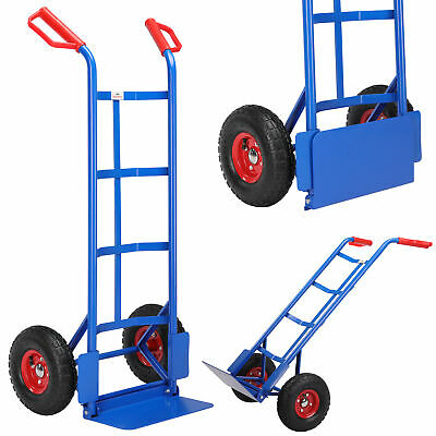 Sack Truck Hand Trolley 200kg Heavy Duty Industrial Barrow Cart Solid Dolly Axle