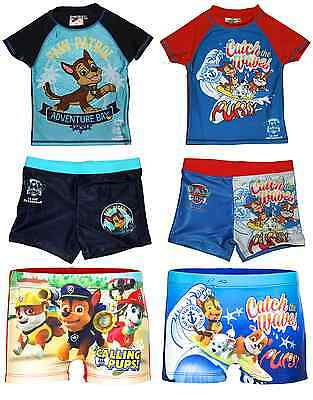 Boys Girls Official Various Character Swimming Shorts / UV Protection T Shirt