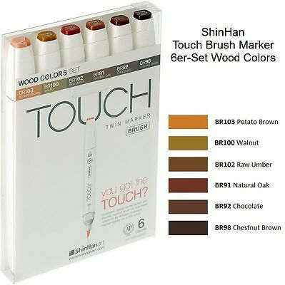 ShinHan Touch Brush Marker Wood Colors A