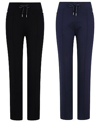 Ex M&S Ladies Drawstring Track Joggers Yoga Pants Jogging Bottoms Sport Pockets