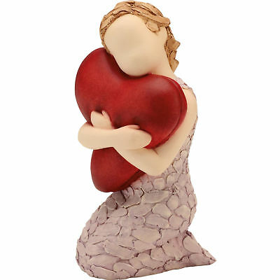 More Than Words A Big Hug Figurine - Girl With Red Heart