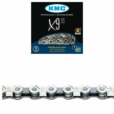 KMC X9.93 Bicycle Chain-9 Speed-116 Links-Silver-300g-New