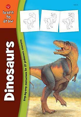Learn to Draw Dinosaurs by Jeff Shelly (English) Paperback Book Free Shipping!
