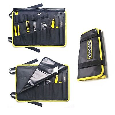 Pedro's Starter Tool Kit Tools And Tool Wrap-19 Tools-Yellow/Black-Cycling-New