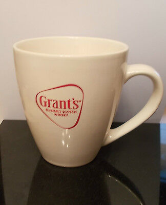 Cream Grants Blended Scotch Whisky Ceramic Mug / Cup Height 11.5 Cm