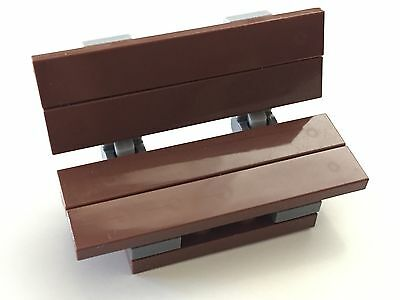 *NEW* Lego Minifig REDDISH BROWN BENCH Friends