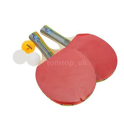 2X Professional Table Tennis Racket Ping Pong Paddle Bat Case Bag Games C6A7