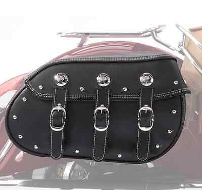 Indian Motorcycle Black Leather Quick Release Saddlebags 2014-2018 Chief Classic