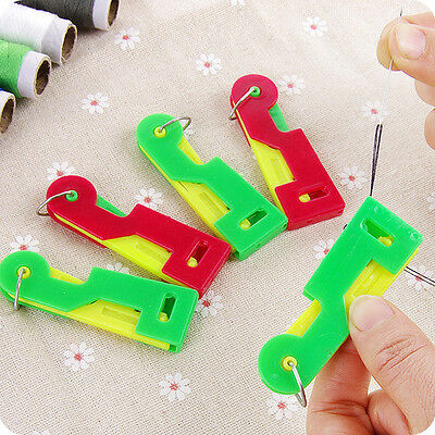 3pcs Automatic Needle Threader Thread Helpful Elderly Guide Easy Use Sewing Tool