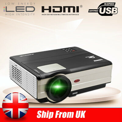 Full HD LCD LED Projector 4000LM 6500:1 1080p Home Cinema Theater HDMI USB VGA