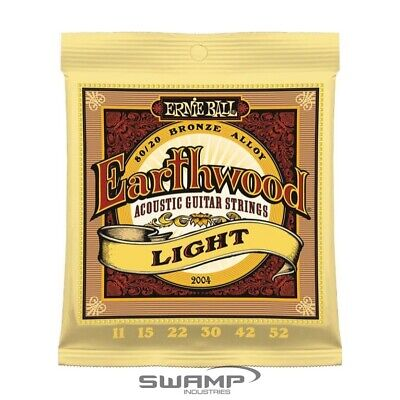 Ernie Ball 2004 Earthwood Light Acoustic Guitar Strings 80/20 Bronze - 11 - 52