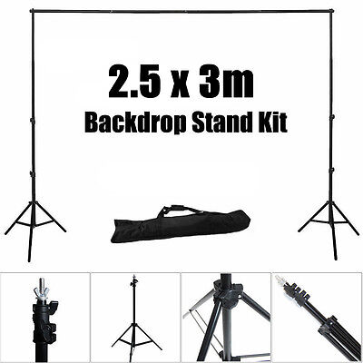 2.5x3M Photo Studio Backdrop Stand Crossbar Kit Photography Background Support