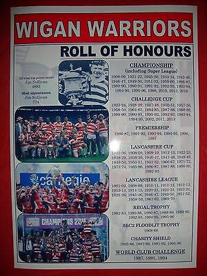 Wigan Warriors club history roll of honours - souvenir print