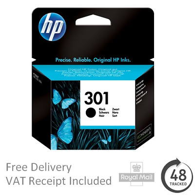Genuine Original HP 301 Black CH561EE Ink Cartridge for Deskjet 1510 AiO