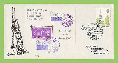 G.B. 1980 Scouts Philatelic Exhibition with Souvenir sheet on special cover