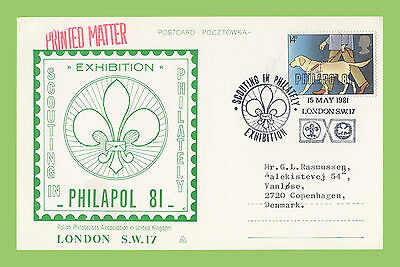 G.B. 1981 Scouting in Philately Exhibition commemorative card