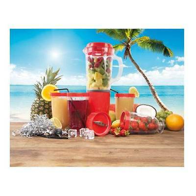 Multifunctional Blender Set Smoothie Cocktail Maker Party Drink Beverages RED