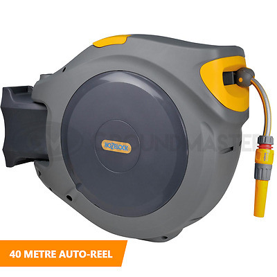 40 Metre Hozelock Retractable Wall Mounted Garden Auto Reel Outdoor Hose System