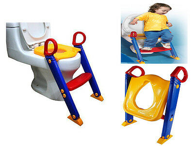 Potty Training Step Ladder Girls Boys Baby/ Infant/ Kids/Toodler Toilet Seat Fun