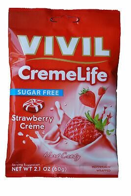 Vivil Sugar free Strawberry and cream sweets