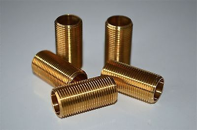 5 pieces 1 inch lengths of 1/2 inch hollow threaded bar lamp fitting thread MT3