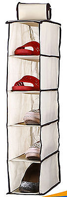 5 Tier Non Woven Cupboard Storage Unit For Shoes Socks Underwear Small Bags New