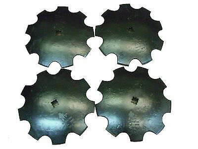 "18'' Notched Disc Harrow Blades Scalloped HEAVY DUTY 1"" or 1 1/8"" SQ  *LOT OF 4*"