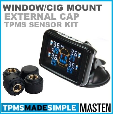 -TPMS Tyre Pressure Monitoring System External Tire Sensor LCD 4WD Cars Wireless