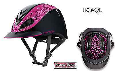 Troxel New Fallon Taylor Pink Bandana Safety Riding Helmet Low Profile Horse