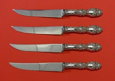 Lucerne by Wallace Sterling Silver Steak Knife Set 4pc HHWS  Custom Made 8 1/2""