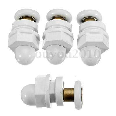 4pcs Partiality Shower Bath Door Rollers Runners Wheels Pulleys Diameter 19mm