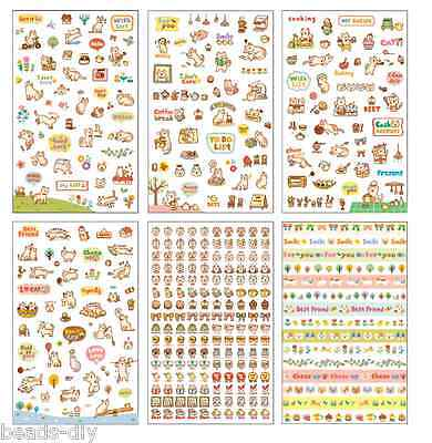 BD 1Set Cartoon Cat Paper Sticker Kids Scrapbooking Home Decoration