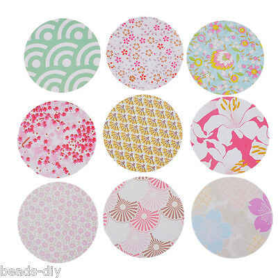 BD 1Set(45PCs) Decorative Stickers Kit Japanese Style Flower Pattern Home Decor