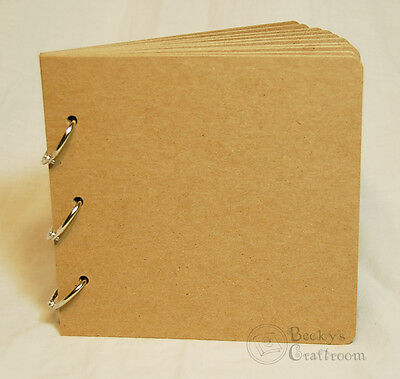"""5.5""""x5.75"""" Bare Chipboard Album 10 pages 3 rings - great for 6x6 paper pads!"""