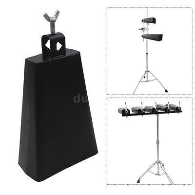 """7"""" Iron Cow-bell Percussion with Clapper for Drum Set Kit Accessory Y1L3"""