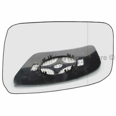Driver Side WIDE ANGLE HEATED WING DOOR MIRROR GLASS Nissan Navara D40 2007-2015