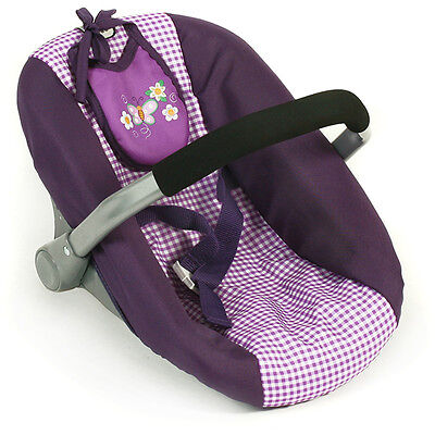 Bayer Chic 2000 Puppenautositz mit Lätzchen (Purple Checker)