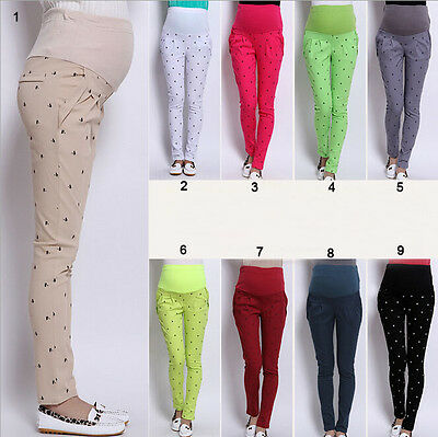 Pregnant Women Abdominal Pants Maternity Pants Belly Leggings Pregnancy Trousers
