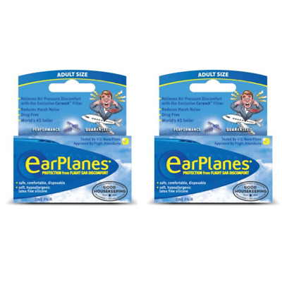 EarPlanes Silicone Earplugs (Adults, 12 Years+)