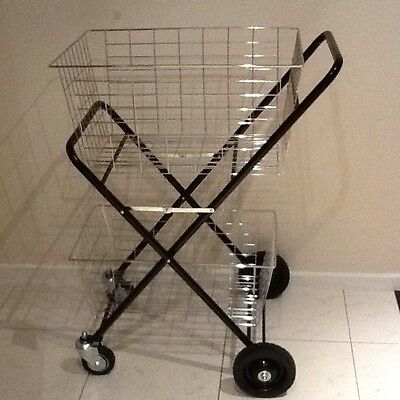 Shopping/general Use Double Basket Folding Trolley