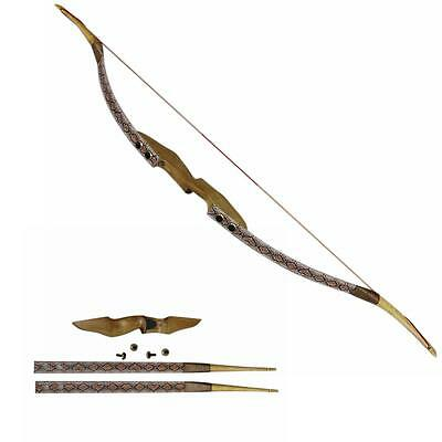 45lbs Takedown Fiberglass Recurve Bow 57'' Hunting Archery Right Hand Snakeskin
