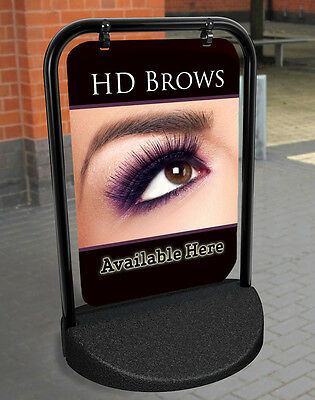 HD Brows PAVEMENT SIGN ADVERTISING SHOP DISPLAY Salon Sign