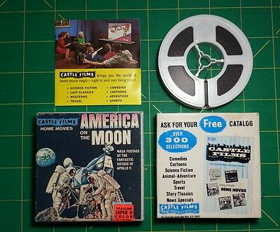 """""""America On The Moon Apollo 11"""" Super 8mm Color Film Reel NASA Neal Armstrong"""