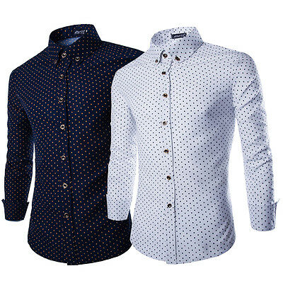 Fashion Men Luxury Stylish Long Sleeve T-shirts Casual Polo Shirt Dress Shirts