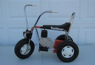 Vintage 1968 Electric 3-Wheel Trail Blazer Ride On Trike Motorcycle By Pines