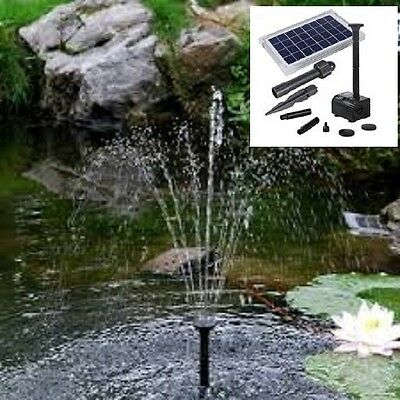 Solar Pond 5W Fountain  Water Pump 470Lph Dry Run Protection, Aust Owned Shop